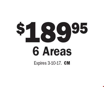 $189.95 6 Areas. Expires 3-10-17. CM