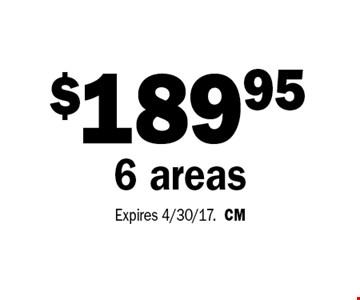 $189.95 6 areas. Expires 4/30/17.CM