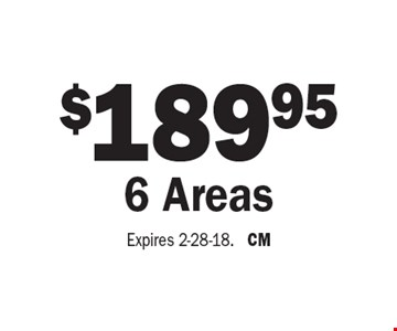 $189.95 6 Areas. Expires 2-28-18. CM