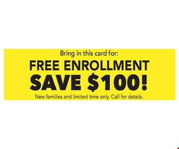 Save $100 Free Enrollment