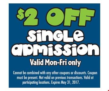 $2 off single admission