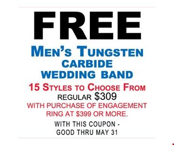 Free en's Tungsten Carbide Wedding Band