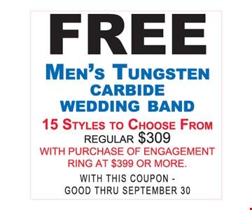 free mens tungsten carbide wedding band