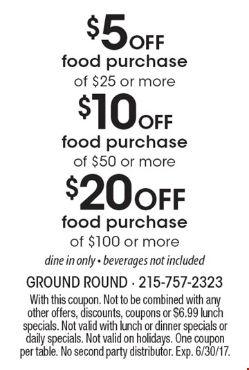 Ground round coupons