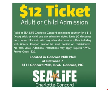 $12 Ticket Adult or Child