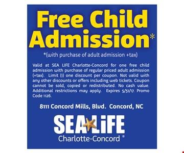 Free child admission.