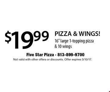 $19.99 PIZZA & WINGS! 16