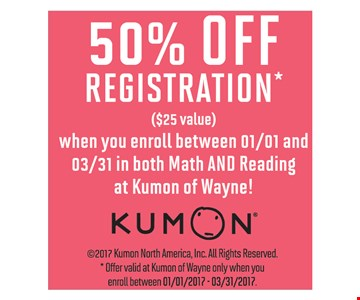 50% Off Registration