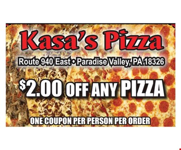 $2 Off Any Pizza