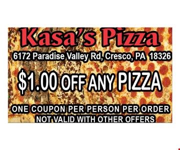 $1 off any pizza