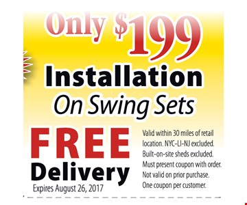 only $199 installation
