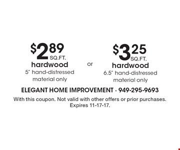 $2.89 SQ. FT. hardwood 5