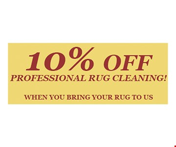 10% Off Professional Rug Cleaning