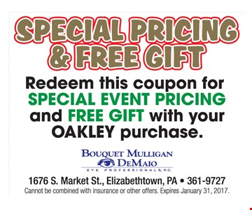 Special Pricing & Free Gift