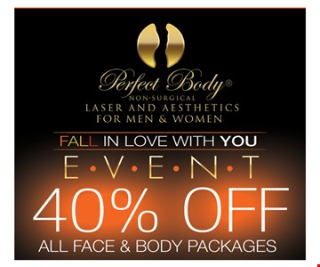 40% OFF ALL FACE & BODY PACKAGE