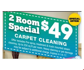 2 room special $49 carpet