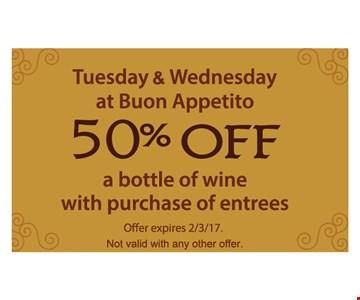 50% off a bottle of wine