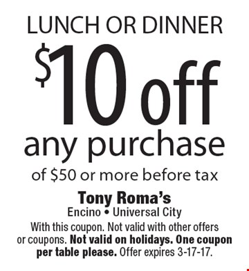 Coupons tony roma's