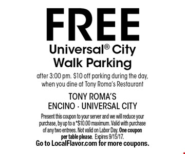 FREE Universal City