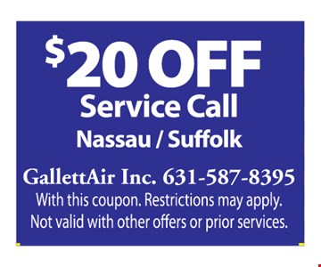 $20 off service call