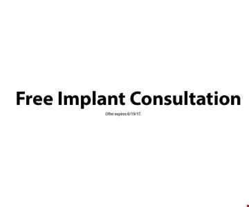 Free Implant Consultation . Offer expires 6/19/17.