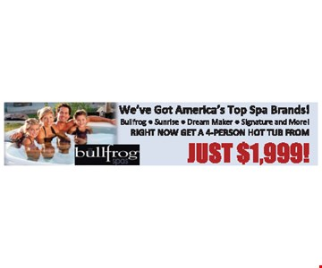 Get A 4-Person Hot Tub From Just $1,999!