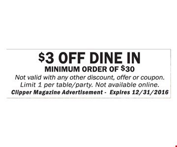 $3 Off Dine In