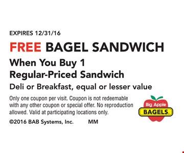 Free Bagel Sandwich