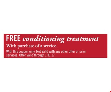 Free conditioning treatment.