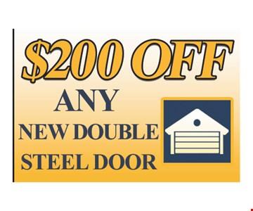 $200 Off any new double steel door
