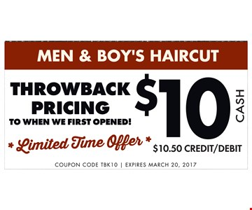 $10 Men & Boys Haircut