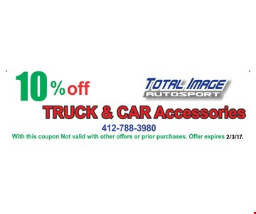 10% Off Truck & Car Accessories