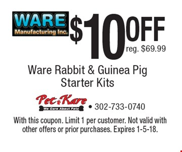 $10 OFF reg. $69.99. With this coupon. Limit 1 per customer. Not valid with other offers or prior purchases. Expires 1-5-18.