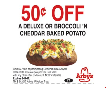 50¢ Off a Deluxe or Broccoli N' Cheddar Baked Potato
