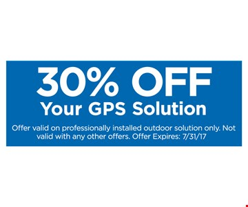 30% Off Your GPS Solution
