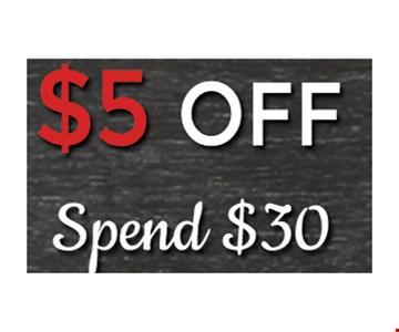 $5 off spend $30