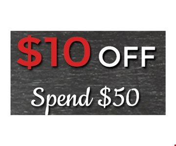 $10 off when you spend $50