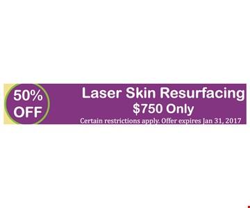 50% Off Laser Skin Resurfacing