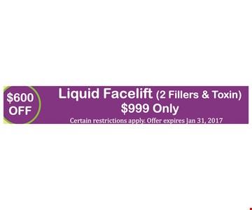 $600 Off Liquid Facelift