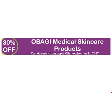 30% Off OBAGI Medical Skincare Products