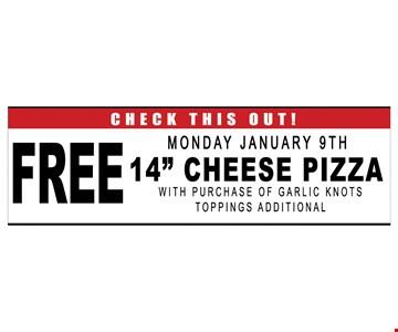 Free Mon. Jan. 9th 14