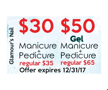 Up to $50 Gel Manicure & Pedicure