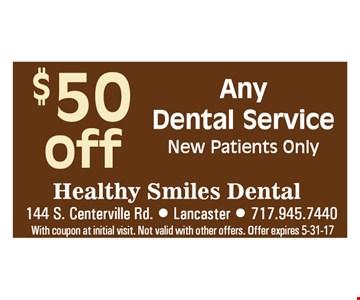 $50 off any dental service.