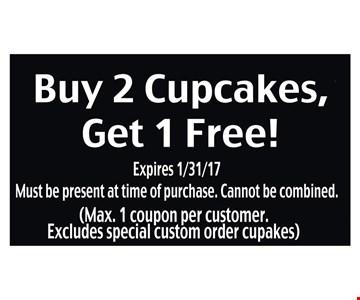 Buy 2 Cupcakes Get 1 Free