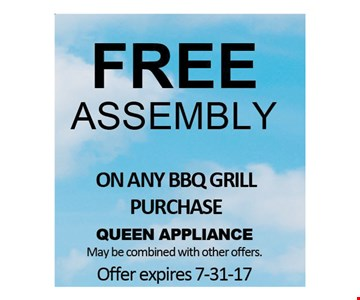 Free Assembly On Any BBQ Grill Purchase