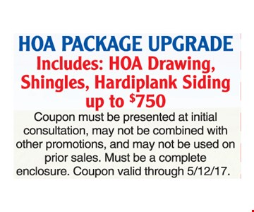 HOA package upgrade