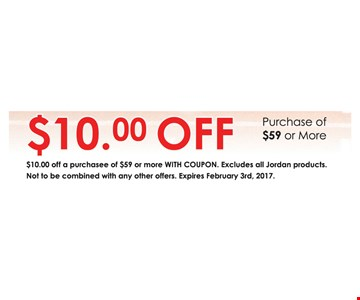 $10 off any purchase of $59 or more