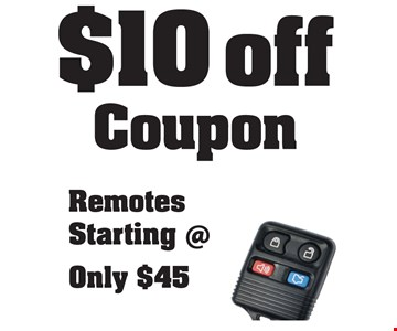 $10 off coupon. Remotes starting @ only $45.