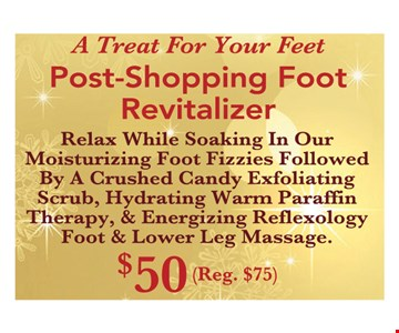 post shopping foot revitalizer