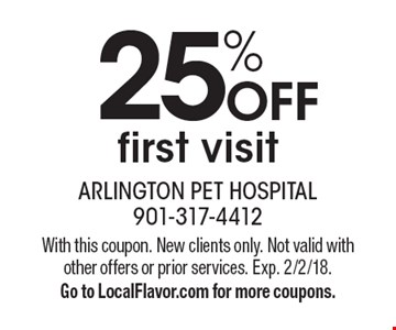 25% OFF first visit. With this coupon. New clients only. Not valid with other offers or prior services. Exp. 2/2/18. Go to LocalFlavor.com for more coupons.